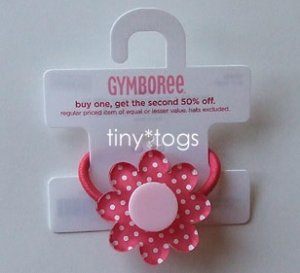 NWT Gymboree Happy Rainbow Polka Dot Flower Hair Pony