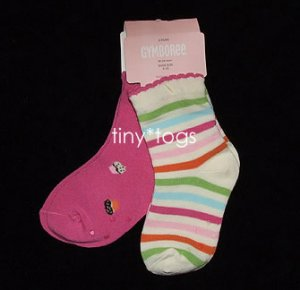 NWT Gymboree Sweet Tooth Cupcake Socks 2-pack 18 24 2T