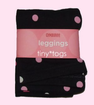 NWT Gymboree Wild One Black Polka Dot Leggings 5 5T New