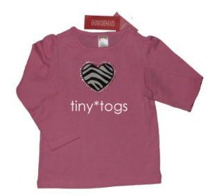 NWT Gymboree Wild One Pink Zebra Heart Top 4 4T New