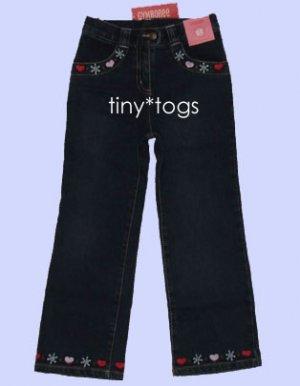 NWT Gymboree Winter Snowflake Denim Heart Jeans 5T 5