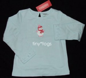 NWT Gymboree Winter Snowflake Snowman Skating Top 4T 4