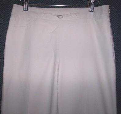 ANN TAYLOR Beige Straight Leg Career Pants Size 4