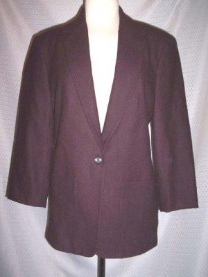 J Crew Dark Brown Wool Blend Lined Jacket Blazer Size 4