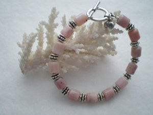 Pink Peruvian Opal Bracelet