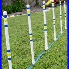 Weave Poles - Dog agility Equipment - Set of 6
