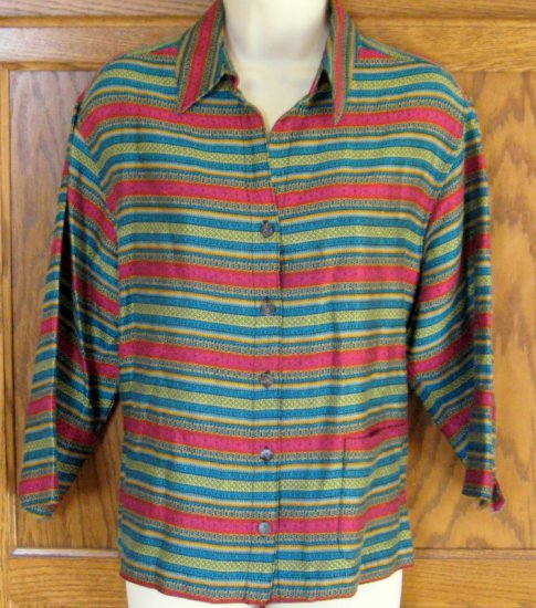 Chico's Design Jewel Tone Jacket Size 1 XS S