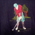 Sutter & Grant Golf Theme Navy Sweater Size XL X Large