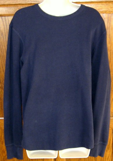 Men GAP l/s navy blue thermal shirt top Size M Medium