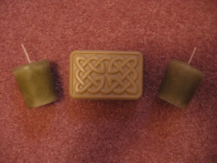 3pc Lot~NAG CHAMPA 2 Votive CANDLES 4oz Celtic HEMP OIL SOAP