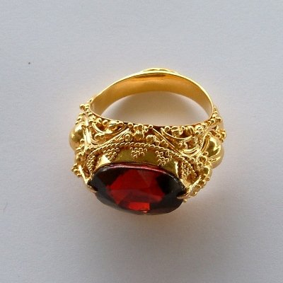 Magnificent Handmade 22K Gold Granulated Balinese Ring