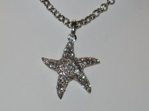 Designer Style Austrian Crystal Starfish Necklace