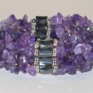 Amethyst Magnetic Hematite Necklace