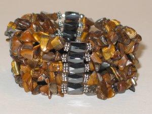 Chunky Tigereye Magnetic Hematite Necklace