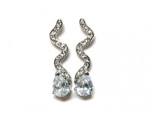 Designer Style Cubic Zirconia Earrings