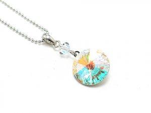 Swarovski Crystal AB Silver Necklace * Sale!