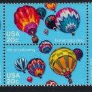 #2032-2035 Balloons se-tenant block Mystic $4.95