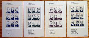 2216-2219 Four Presidential Stamp Panes Mystic $37.95