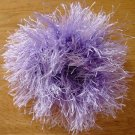 Fancy Powder Puff Hair pony tie Lavender NEW Washable
