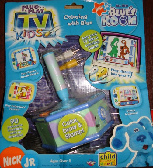 Plug 'N Play Blues Clues Coloring With Blue TV Games