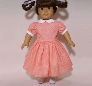 MY VALENTINE Pink Heart Short Sleeve Dress for 18 inch dolls Fits American Girl