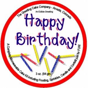 Happy Birthday Cake - Lemon