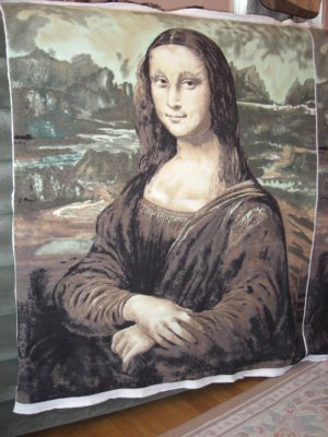 Leonardo da Vinci 'MONA LISA' FLEECE Fabric Panel -NEW-
