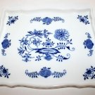 Zwiebelmuster Czech Blue Onion Hand Painted Fine Porcelain China Tray 9 x 7.5""