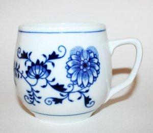 Zwiebelmuster Vintage Blue Onion Fine China Coffee Tea Cup Mug Czechoslovakia