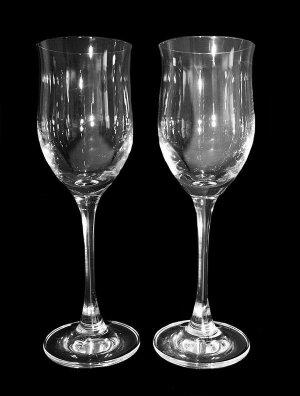Gorgeous Czech 24% Leaded Crystal Tall Liqueur Cordial Glasses 2 PCS 1 PAIR SALE