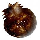 Hawaiian Natural Coconut Shell Hand Carved Pineapple Shape Soap Dish  2 PIECES