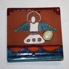 Gorgeous Unique Hand Painted Southwest Clay Tile Lighted Doorbell - Angel