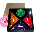 Hawaiian Incense Sticks Rose Sunflower Lavendar Celadon Green Burner Gift Set