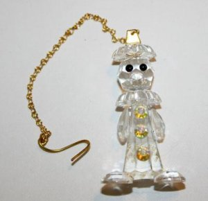 Czech Bohemian Art Glass Hand Made Lead Crystal Circus Clown Ornament Figurine