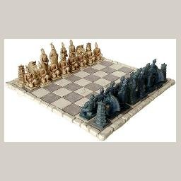 Chinese Xian Warriors Chess Set and Board