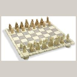 Isle of Lewis Celtic Chess Set (board & pieces)