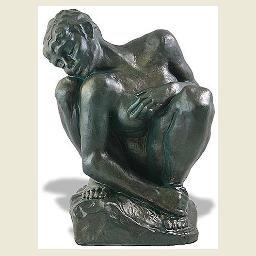 The Crouching Woman Statue by Rodin