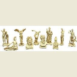 Greek Set of 10 Miniature Statues