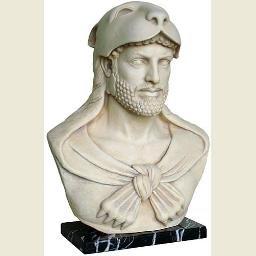 Hercules Bust with Nemean Lion Headdress and Club