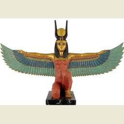 Kneeling Winged Isis, Gold Details, Large
