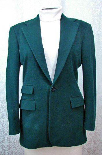 GREEN JACKET 6 Ralph Lauren Collection 25% Cashmere Blazer Purple Label