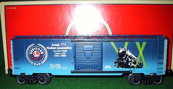 Lionel Trains 39201 Hudson 773 Century Club Box Car - 2000 Edition - New OB - O Gauge