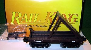 MTH 30-7635 WARR 19th Century General Type Flat Car with Cannon New OB