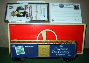 Lionel Trains 26214 Celebrate The Century Stamp Box Car New OB O Gauge