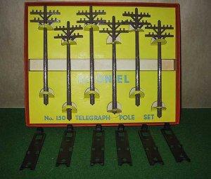 Lionel Trains 150 Telegraph/Telephone Pole Set OB Excellent Postwar
