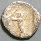 Ancient Phonecian Silver Eighth Shekel Coin 4th Century BC Sidon