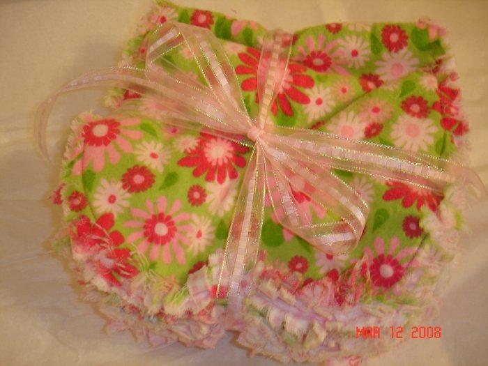 Girl theme set of 3 Rag Burp Cloths