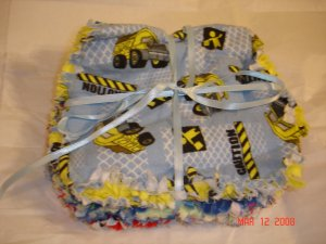 Boy Truck/Space theme set of 3 Rag Burp Cloths