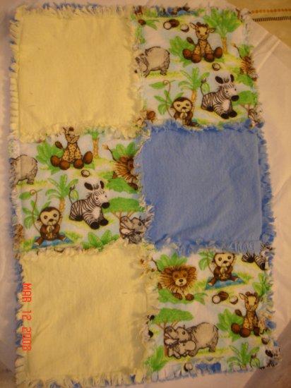 Jungle Friends Rag Lovey/ Security Blanket