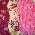 Pink/Fuschia Edgy Baby set of 3 Rag Burp Cloths